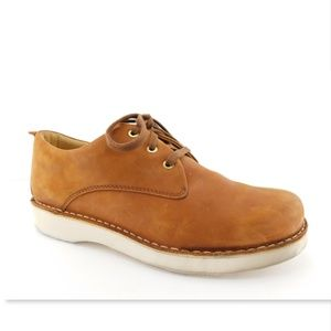 SAMUEL HUBBARD Tan Leather Oxfords Vibram Shoes 10